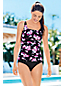 Women's Regular Shape & Enhance Scoopneck Blossom Print Tankini Top