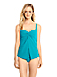 Women's Shape & Enhance Sweetheart Split Front Tankini Top