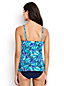 Women's Regular Shape & Enhance Sweetheart Split Front Wave Print Tankini Top