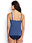 Women's Regular Shape & Enhance Sweetheart Split Front Geo Print Tankini Top