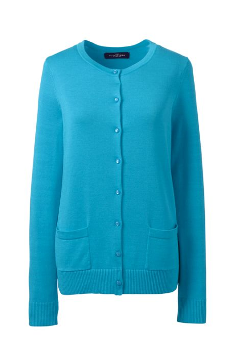 Women's Cotton Modal Crew Cardigan Sweater