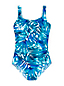 Women's Regular Carmela Leaf Pattern Slender Swimsuit