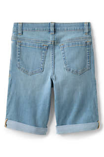 Little Girls Denim Bermuda Jean Shorts, Back