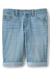 Little Girls Denim Bermuda Jean Shorts, Front