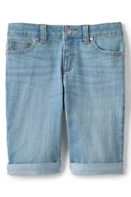 Girls Denim Bermuda Jean Shorts