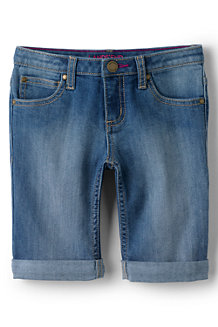 Girls' Denim Bermuda Shorts