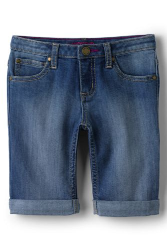 Little Girls' Denim Bermuda Shorts