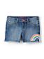 Denim-Shorts mit Fransen für kleine Mädchen