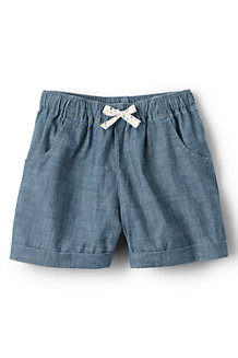 Girls' Pull on Chambray Shorts