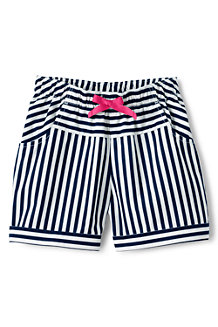 Girls' Stripe Pull on Shorts
