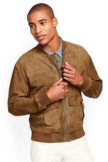 Men's Suede Bomber Jacket