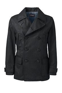 Men's Cotton/Linen Pea Coat