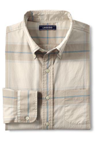 Sommerleichtes Baumwollhemd mit Karos für Herren