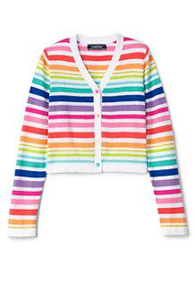 Gestreifter Regenbogen-Cardigan für Mädchen