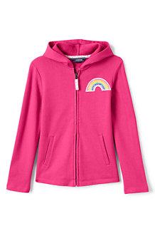 Kapuzenjacke mit Regenbogen-Patch für  Mädchen