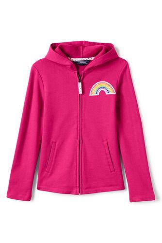 Kapuzenjacke mit Regenbogen-Patch für große Mädchen