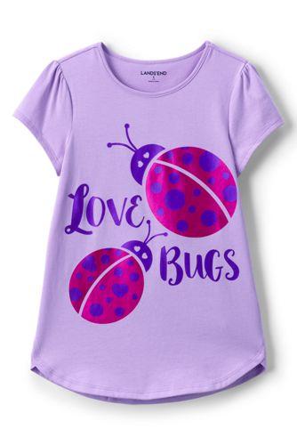 Le T-Shirt Évasé à Motif, Petite Fille