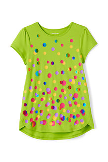 Girls A-line Graphic Tee