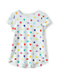 Toddler Girls A-line Patterned Short Sleeve Tee
