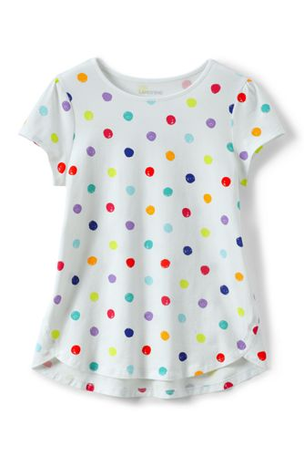 Toddler Girls A-line Patterned Short Sleeve T-shirt