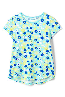Girls A-line Patterned Short Sleeve Tee