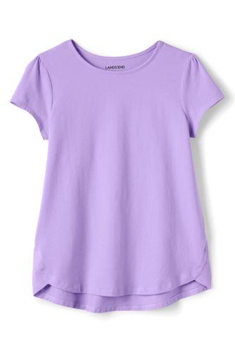 Le T-Shirt Évasé Uni, Toute Petite Fille