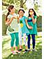 Ausgestelltes Leggingsshirt mit Grafik-Print für kleine Mädchen