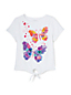 Toddler Girls' Tie Front Graphic Tee