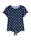 Toddler Girls' Tie Front Patterned T-shirt