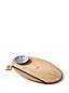 Ovales Set aus Holzbrett und Beilagenteller
