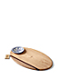 Maple Wood/Mahogany Oval Dip/Cheese Board