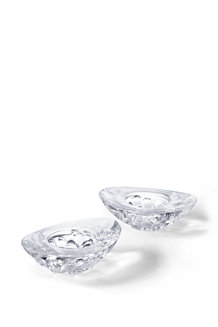 Set of 2 Bavarian Crystal Glass Votive Holders