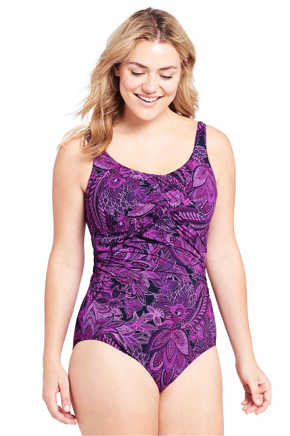 2eba9b3f372 Women's Plus Size Slender Underwire Carmela One Piece Swimsuit with Tummy  Control