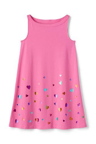 La Robe Évasée Graphique en Jersey Stretch, Petite Fille