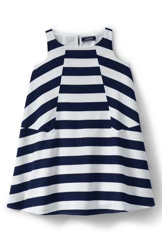 Girls' Trapeze Woven Pieced Dress