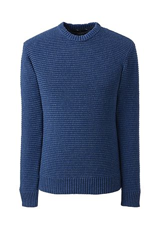 Cotton Drifter Horizontal Shaker Crew Sweater 482474: Sodalite Blue Heather