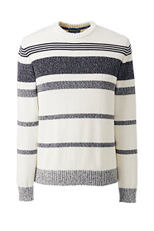 Men's Marled Stripe Drifter Cotton Jumper