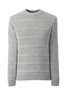 Men's Horizontal Cable Drifter Cotton Jumper