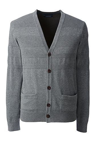 Supima Placed Texture Cardigan 482481