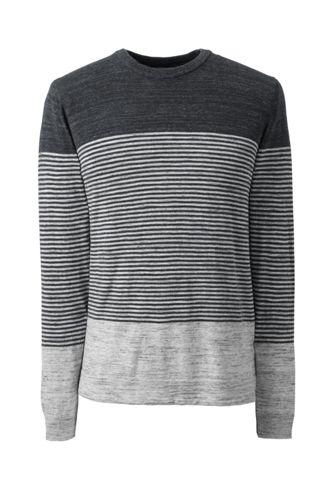Men's Regular Placed Stripe Mariner Cotton Jumper