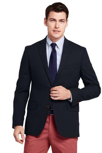 men u0026 39 s tailored fit comero italian wool navy blazer from lands u0026 39  end