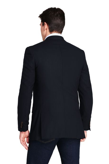 Men's Tailored Fit Comero Italian Wool Navy Blazer