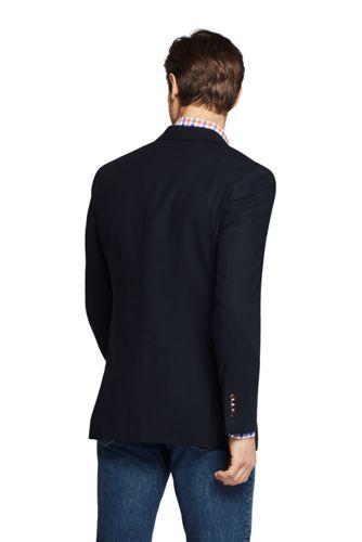 Men's Tailored Fit Comero Italian Wool Navy Blazer