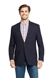 Men's Tailored Fit Comero Italian Wool Navy Blazer, Front