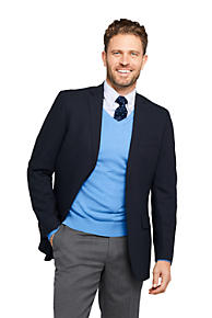 Men s Traditional Fit Comero Italian Wool Navy Blazer 6736165087