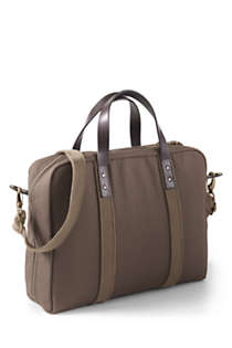 Waxed Canvas Laptop Briefcase, Back