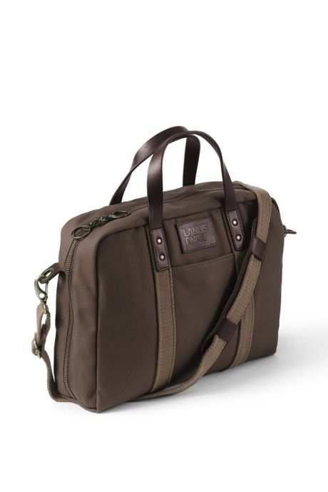 Waxed Canvas Laptop Briefcase