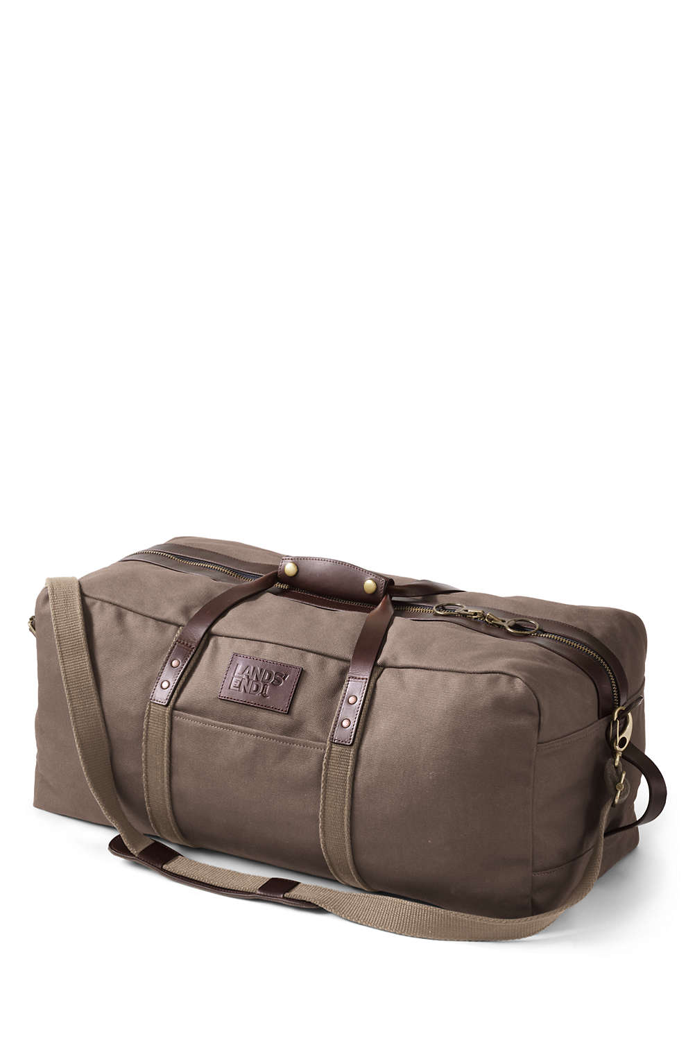 Waxed Canvas Duffle Bag from Lands  End b334e7c15b