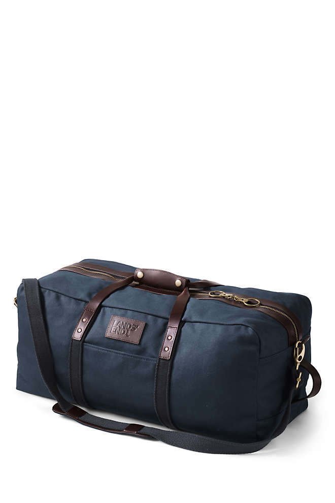 Waxed Canvas Travel Duffle Bag, Front
