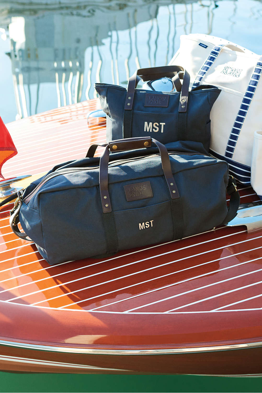 Waxed Canvas Duffle Bag from Lands  End fdb1b6bd1c9c6
